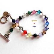 Sparkles Of Hope Cancer Bracelet Art Print by Barbara Griffin