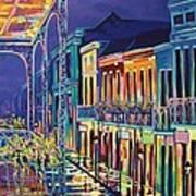 Sparkling Night On Bourbon Street Art Print
