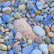 Speckled Stones Art Print