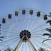 Spectrum Center Ferris Wheel In Irvine Art Print