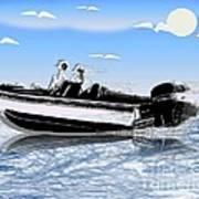 Speed Boating Art Print