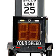 Speed Limit Monitor Art Print by Olivier Le Queinec