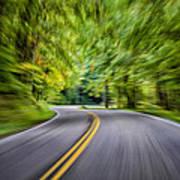 Speeding Through The Forest E42 Art Print