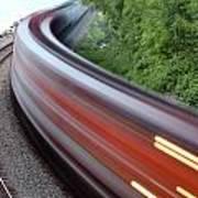 Speeding Train Art Print