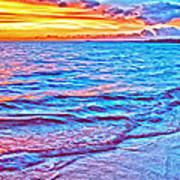 Spencer Beach Sunset Art Print