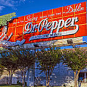 Spend Some Time In Dublin Texas With Dr Pepper Art Print