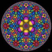 Sphere Packed Hyperbolic Disk Art Print