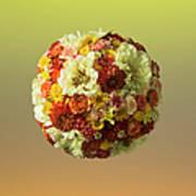 Sphere Shaped Floral Arrangement Art Print