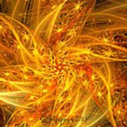 Spherical Golden Stars Art Print