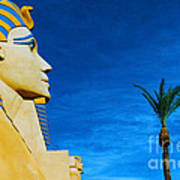 Sphinx And Palm Trees Las Vegas Art Print