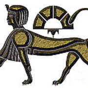 Sphinx - Mythical Creature Of Ancient Egypt Art Print