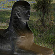 Sphinx Statue Three Quarter Profile Solar Usa Art Print