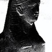 Sphinx Statue Torso Black And White Usa Art Print