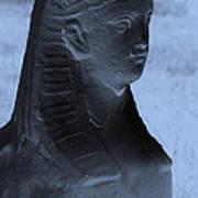 Sphinx Statue Torso Blue And Gray Usa Art Print