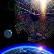 Spiders In Space - The Beginning Of The End Art Print