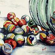 Spilled Marbles Art Print