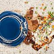 Spilled Plate Of Food On Carpet Art Print