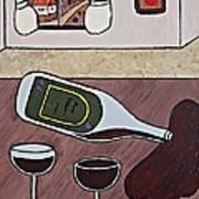 Essence Of Home - Spilt Wine Bottle Art Print
