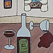 Essence Of Home - Spilt Wine Art Print