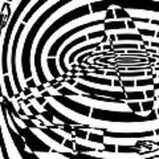 Spin Art Phonographic Maze  Art Print