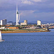 Spinnaker Tower And Gunwharf Quays Art Print
