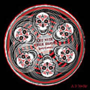 Spinning Celtic Skulls Art Print