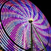 Spinning Disk Art Print by Joan Carroll