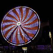 Spinning Ferris Wheel Art Print