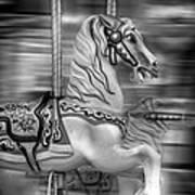 Spinning Horses Art Print