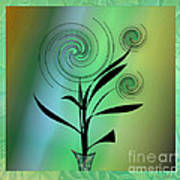 Spinning Plant Art Print