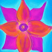 Spiral Flower Art Print