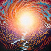 Spiral Glow Art Print