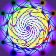 Spiral Light Hexagon Art Print
