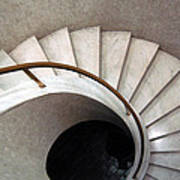 Spiral Stair - Denys Lasdun Art Print by Peter Cassidy