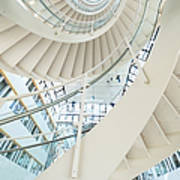 Spiral Staircase Inside Office Complex Art Print