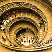 Spiral Staircase Art Print by Stefano Senise
