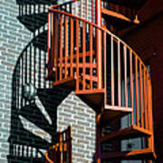 Spiral Stairs - Color Art Print