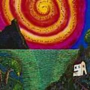 Spiral Sun Art Print