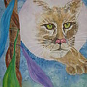Spirit Of The Mountain Lion Art Print