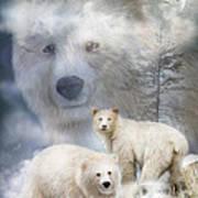 Spirit Of The White Bears Art Print