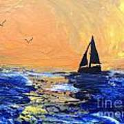 Spirits Rise As The Sails Fill Art Print