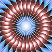 Spiritual Pulsar Kaleidoscope Art Print by Derek Gedney