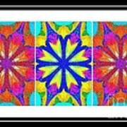 Spirituality - Life Lights - Kaleidoscope - Triptych Art Print