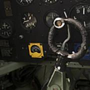 Spitfire Cockpit Art Print by Adam Romanowicz