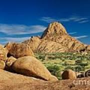 Spitzkoppe Mountain Landscape Of Granite Rocks Namibia Art Print