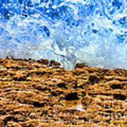 Splash In La Jolla By Diana Sainz Art Print