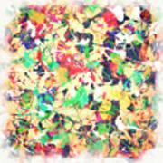 Splashing Paints Art Print
