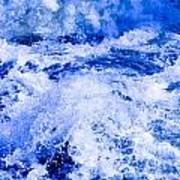 Splashing Water In Rapid River Art Print