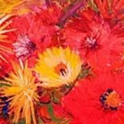 Splashy Floral II Art Print