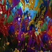Splatter Art Print by Doris Wood
